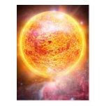Nebulosa que quema brillantemente tarjeta postal
