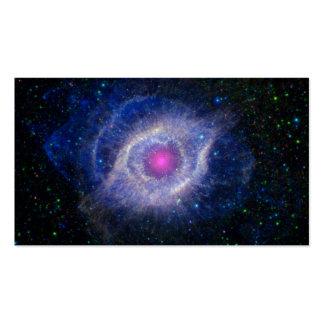 nebulosa rosada del ojo que brilla intensamente plantillas de tarjetas de visita