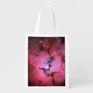 Nebulosa rosada, universo, colores de la foto, bolsa para la compra