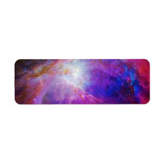 Nebulosa teñida rosa de Orión Etiqueta De Remite