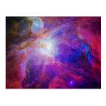 Nebulosa teñida rosa de Orión Postal