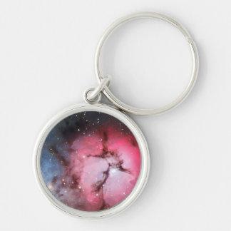 Nebulosa trífida, 16 más sucios llavero redondo plateado