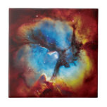 Nebulosa trífida azulejo cuadrado pequeño
