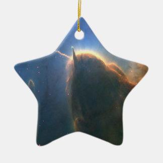 Nebulosa trífida adorno de cerámica en forma de estrella