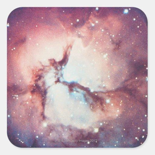 Nebulosa trífida pegatina cuadrada
