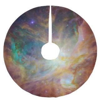 Nebulosa verde de Orión de la aguamarina Falda Para Arbol De Navidad De Poliéster