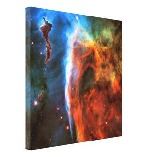 Nebulosa y Digitus Impudicus del ojo de la cerradu Impresiones En Lienzo Estiradas