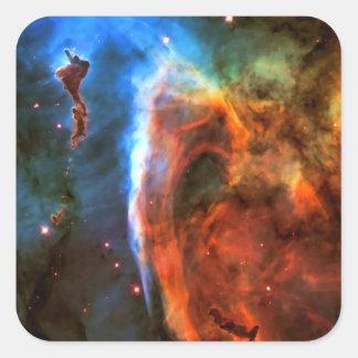Nebulosa y Digitus Impudicus del ojo de la Pegatina Cuadrada