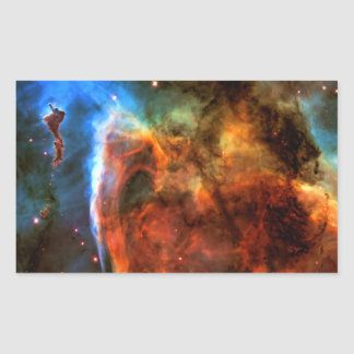 Nebulosa y Digitus Impudicus del ojo de la Pegatina Rectangular