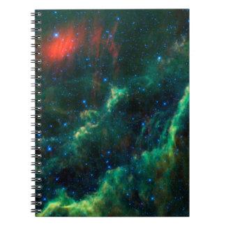 Nebulosa y estrella Menkhib de California Libretas