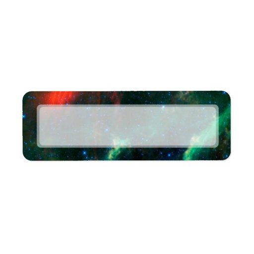 Nebulosa y estrella Menkhib de California Etiquetas De Remite