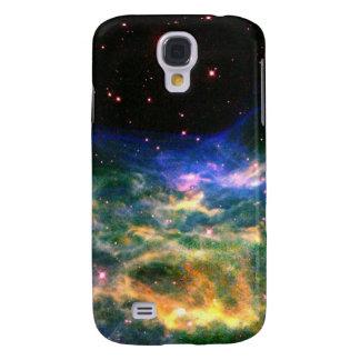 Nebulosa y estrellas coloridas funda para galaxy s4