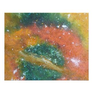 Nebulosa y planetas flyer a todo color