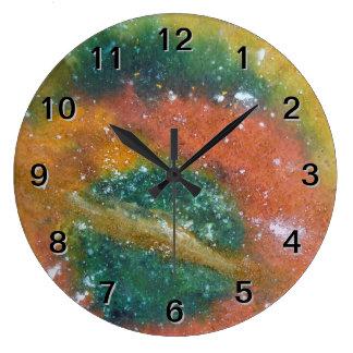 Nebulosa y planetas reloj de pared