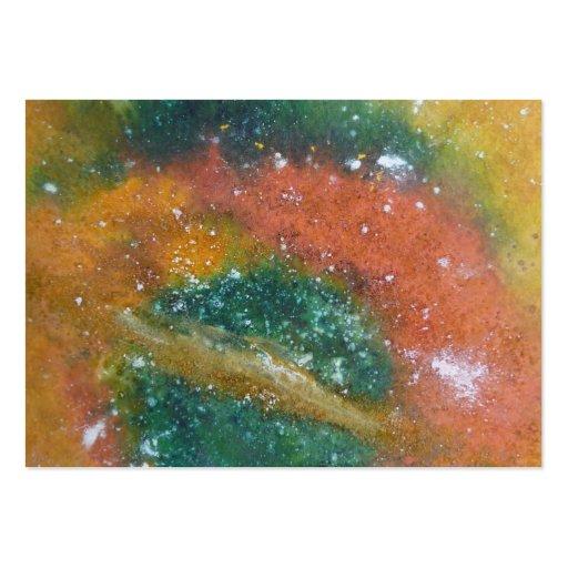 Nebulosa y planetas plantillas de tarjetas personales