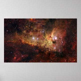 Nebulosas de Carina en la NASA del espacio Póster