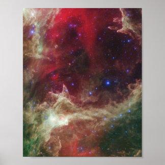 Nebulosas de la emisión de la nebulosa del alma en poster