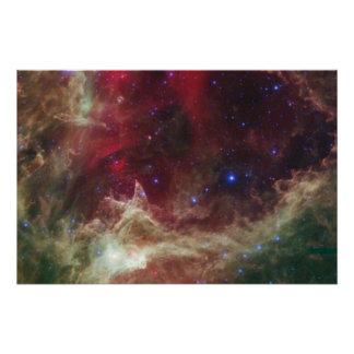 Nebulosas de la emisión de la nebulosa del alma en perfect poster