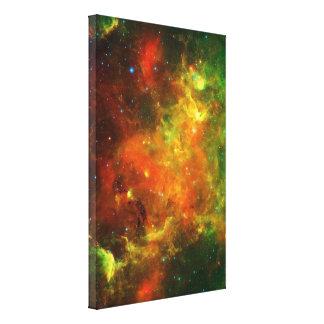 Nebulosas de norteamericano y del pelícano impresión de lienzo