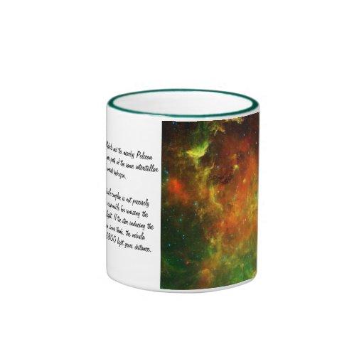 Nebulosas de norteamericano y del pelícano taza a dos colores