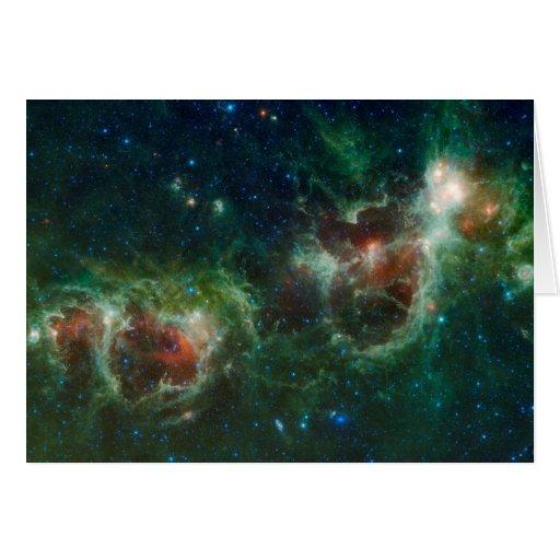Nebulosas del corazón y del alma felicitación