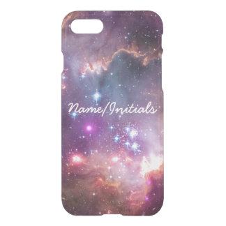 Nebulosas galácticas de la púrpura del espacio funda para iPhone 7