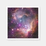 Nebulosas galácticas de la púrpura del espacio servilletas desechables