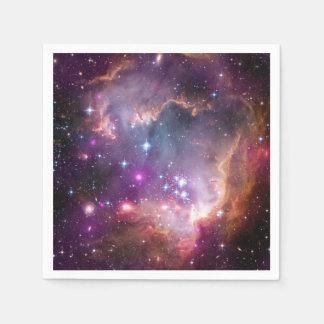 Nebulosas galácticas de la púrpura del espacio servilletas de papel