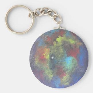 Nebulous Dream Basic Round Button Keychain