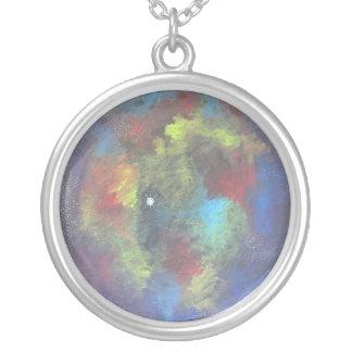 Nebulous Dream Round Pendant Necklace