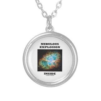 Nebulous Explosion Inside (Crab Nebula) Round Pendant Necklace