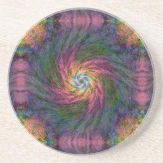 Nebulous Spiral 2  Sandstone Coaster