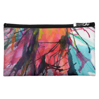 Neceser artistic texture cosmetic bag