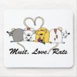 Necesidad. Amor. Ratas Mousemat Tapete De Ratón