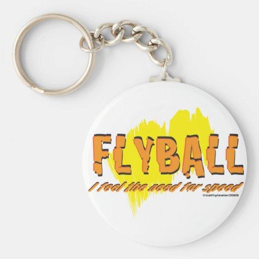 Necesidad de Flyball de la VELOCIDAD Llavero Redondo Tipo Pin
