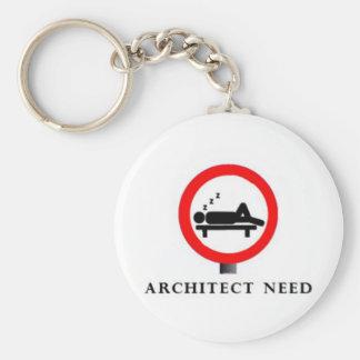necesidad del arquitecto llavero personalizado
