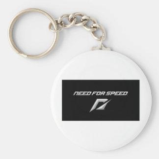 necesidad del logotipo de la velocidad llavero redondo tipo pin