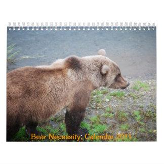 Necesidad del oso, calendario 2011