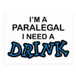 Necesidad del Paralegal una bebida Postales