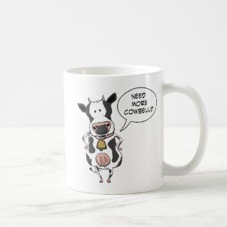Necesidad divertida más cencerro taza de café