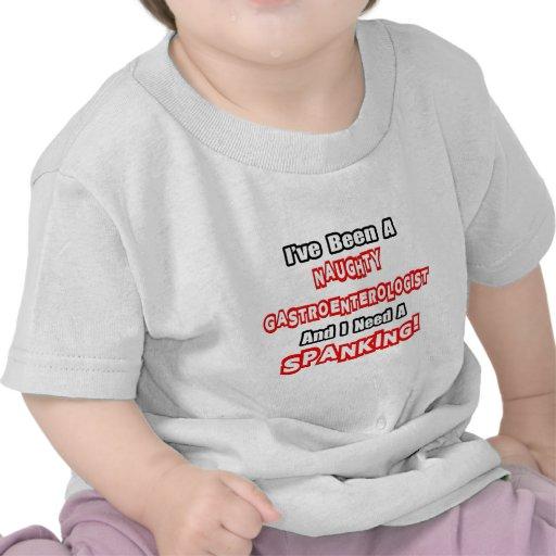 Necesidad traviesa del gastroenterólogo… un azote camisetas