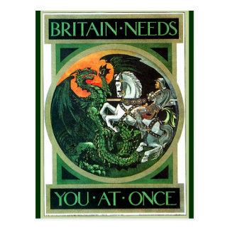 Necesidades de Gran Bretaña - postal