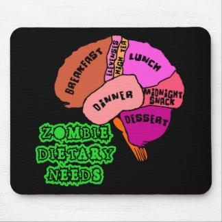 NECESIDADES DIETÉTICAS DEL ZOMBI: ¡Cerebros! Camis Alfombrillas De Ratones