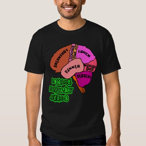 NECESIDADES DIETÉTICAS DEL ZOMBI: ¡Cerebros! Camisas