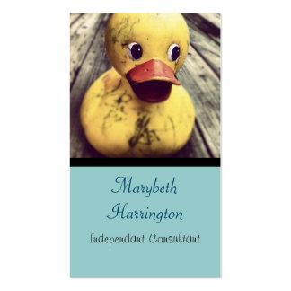 ¡Necesidades Ducky de goma amarillas un baño! Tarjetas De Visita