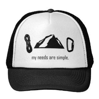 Necesidades simples (escalada) gorras