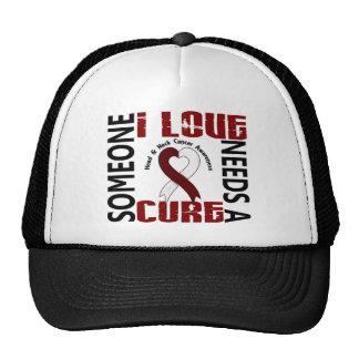 Necesita a un cáncer principal del cuello de la cu gorra