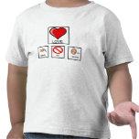 Necesita la camiseta de ningún niño de las palabra
