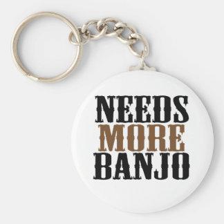 Necesita más banjo llavero redondo tipo pin