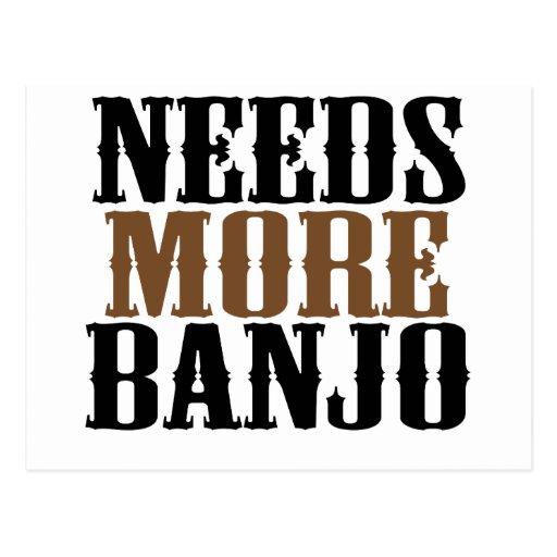 Necesita más banjo postales